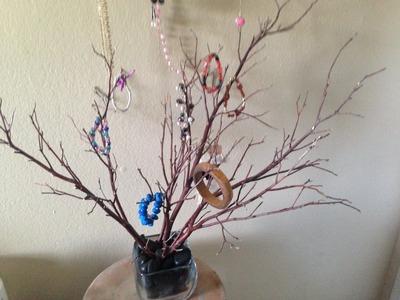 Como hacer un joyero o decoracion con ramas secas