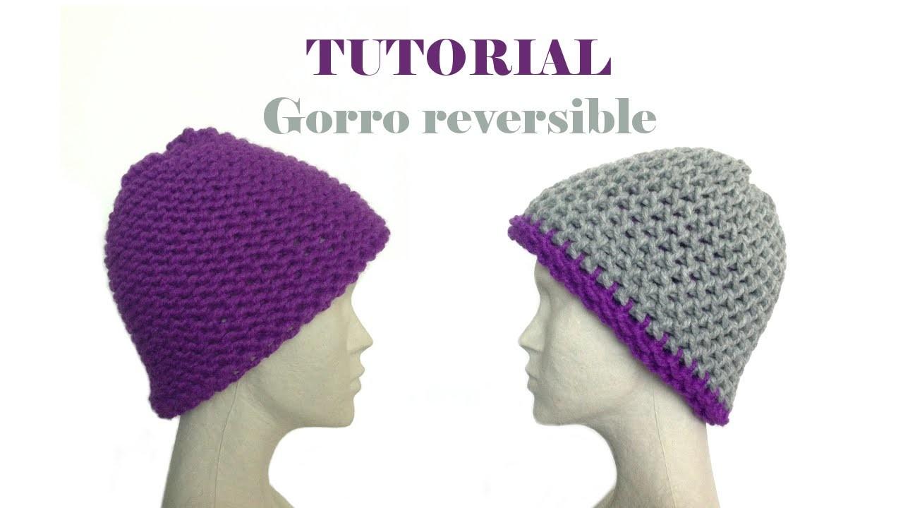 Cómo tejer con telar un gorro reversible (Tutorial DIY)