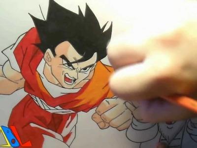 Dibujando a: Gohan y el Maestro Roshi