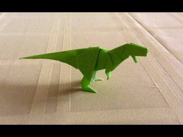 Dinosaurio Rex de origami, como hacer dinosaurio Rex?