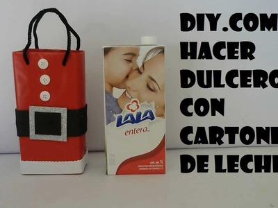 DIY.COMO HACER DULCERO DE NAVIDAD CON CARTONES DE LECHE
