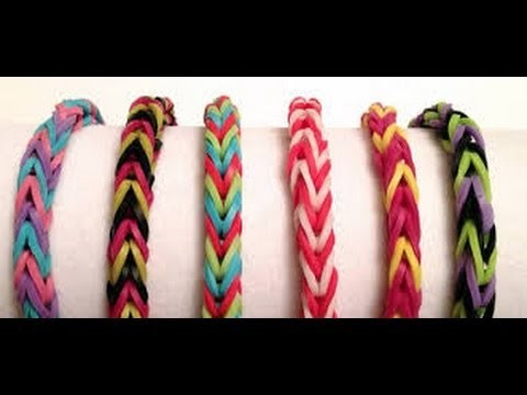 DIY - Pulseras de Ligas-Gomitas {SUPER FACIL}. Loom Bands