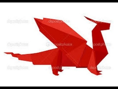 Dragón de origami, como hacer dragón de papel, origami