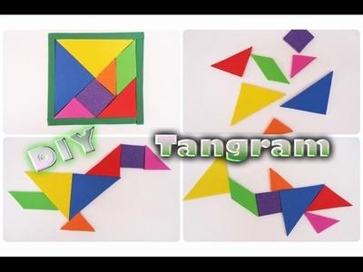 El Tangram juego de origen chino Hecho de Foamy, Goma eva