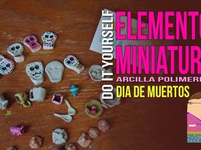 Elementos Altar de Muertos Miniatura (arcilla polimérica)