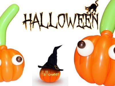 Halloween. Como hacer una calabaza en globos. Pumpkin balloons