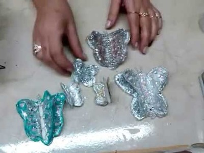 Mariposas 3D tetrapak. Tetra pak 3D butterflies