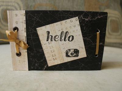 Mini álbum con bolsas de papel