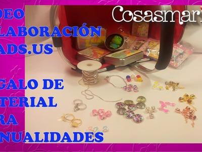 Muestras regalo colaboración con la página wed beads.us