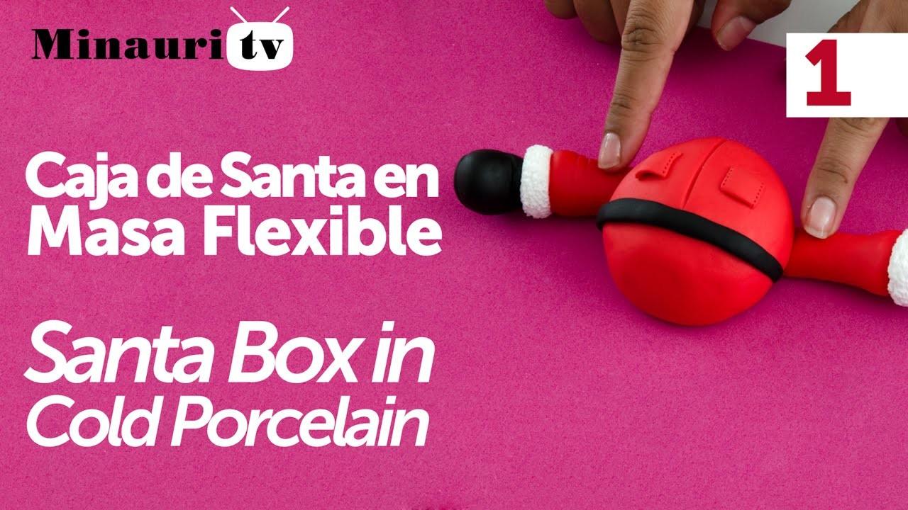 Navidad Caja Santa ( Christmas Santa Box ) Cold Porcelain 1.2
