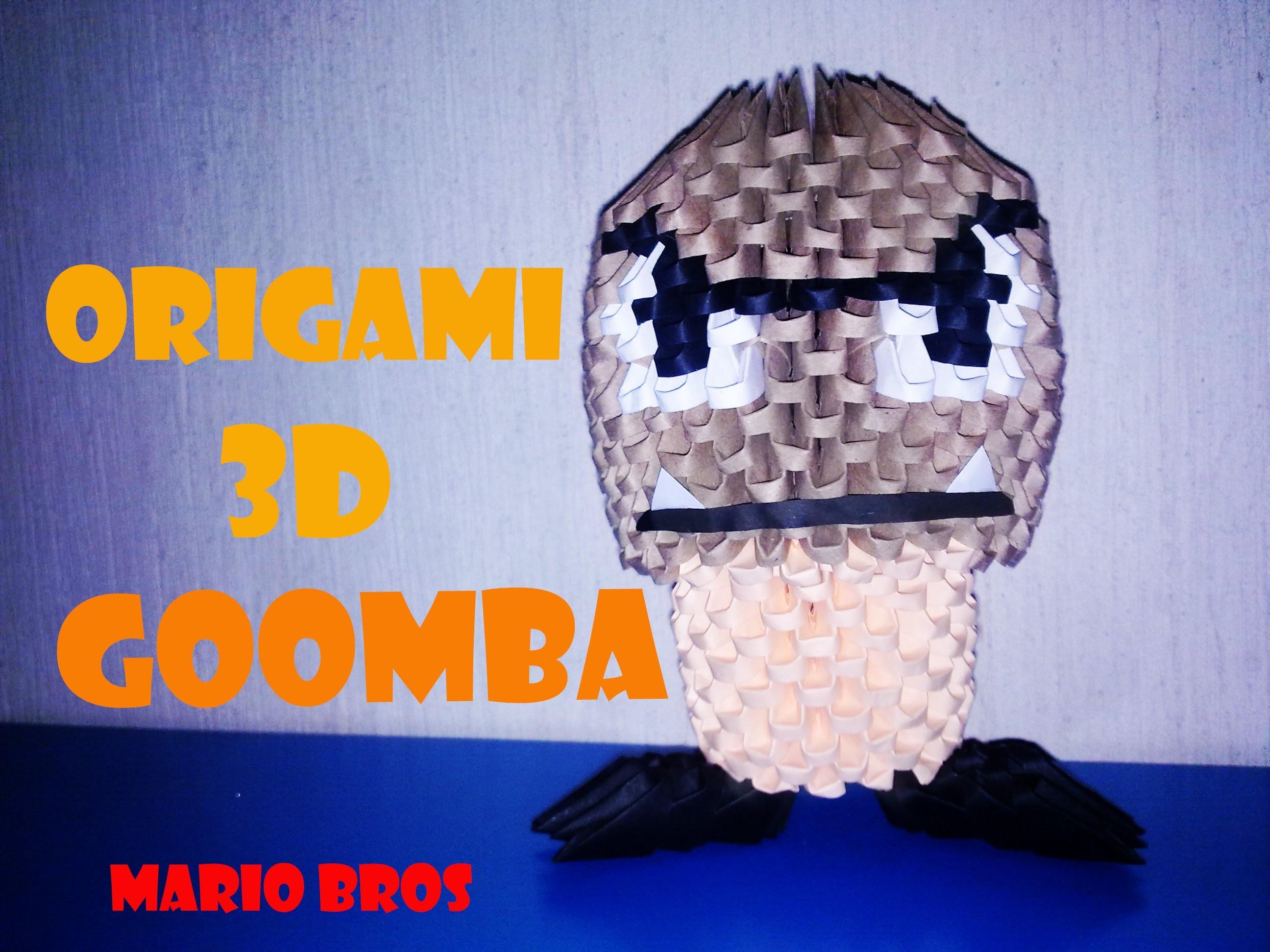 Origami 3D Goomba de Mario Bros