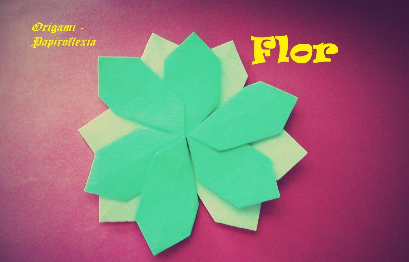 Origami - Papiroflexia. Flor muy sencilla y rápida de hacer