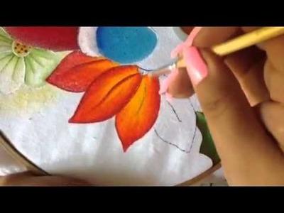 Pintura en tela nochebuena de santa # 6 con cony