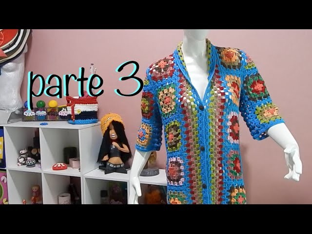 Suéter Abrigo Granny parte 3 #Ganchillo #Crochet Sweater #Diy