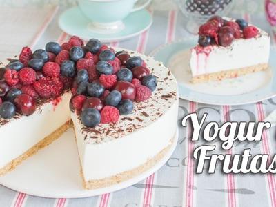 Tarta fría de yogur y frutas | Postre sin horno | Quiero Cupcakes!