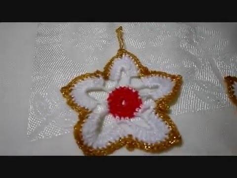 Tejiendo una Estrella de Navidad Crochet