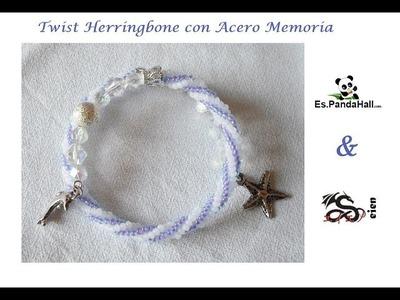Tutorial Twisted Herringbone Es.PandaHall.com