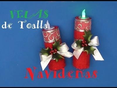 Velas Navideñas de  TOALLA