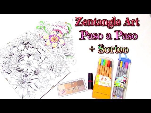 Zentangle Art paso a paso tutorial + sorteo Internacional   Isa ❤️