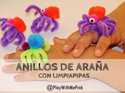 ✿ ANILLOS DE ARAÑA CON LIMPIAPIPAS ✿ PIPE CLEANER SPIDER RINGS
