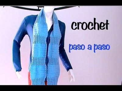 Bufanda Punto Alto Relieve #Ganchillo #Crochet Scarf easy DIY