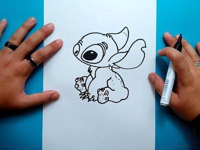Como dibujar a Stitch paso a paso - Lilo y Stitch | How to draw Stitch - Lilo & Stitch