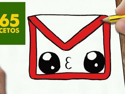 COMO DIBUJAR LOGO GMAIL KAWAII PASO A PASO - Dibujos kawaii faciles - How to draw a logo Gmail