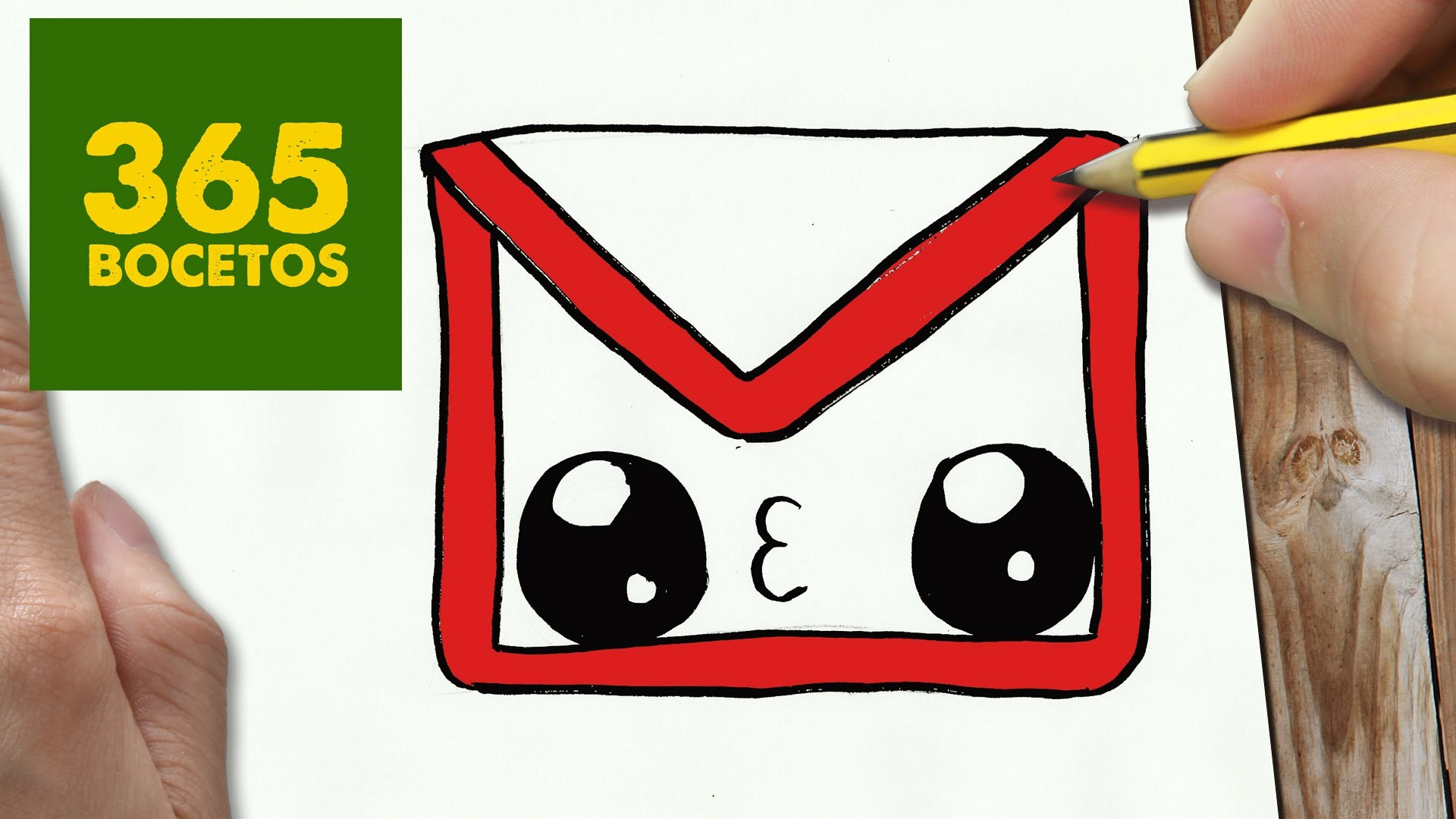 COMO DIBUJAR LOGO GMAIL KAWAII PASO A PASO - Dibujos kawaii faciles - How to draw a logo Gmail