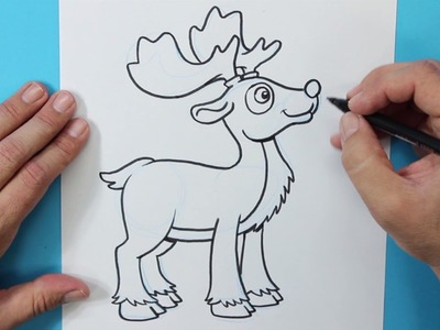 Cómo dibujar un Reno (Navidad) - How to draw a reindeer (Christmas)