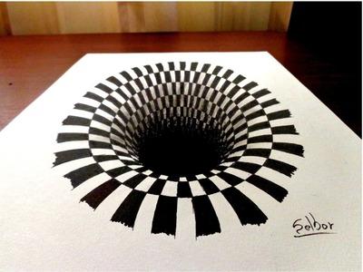 Como dibujar una ilusión óptica paso a paso | Selbor
