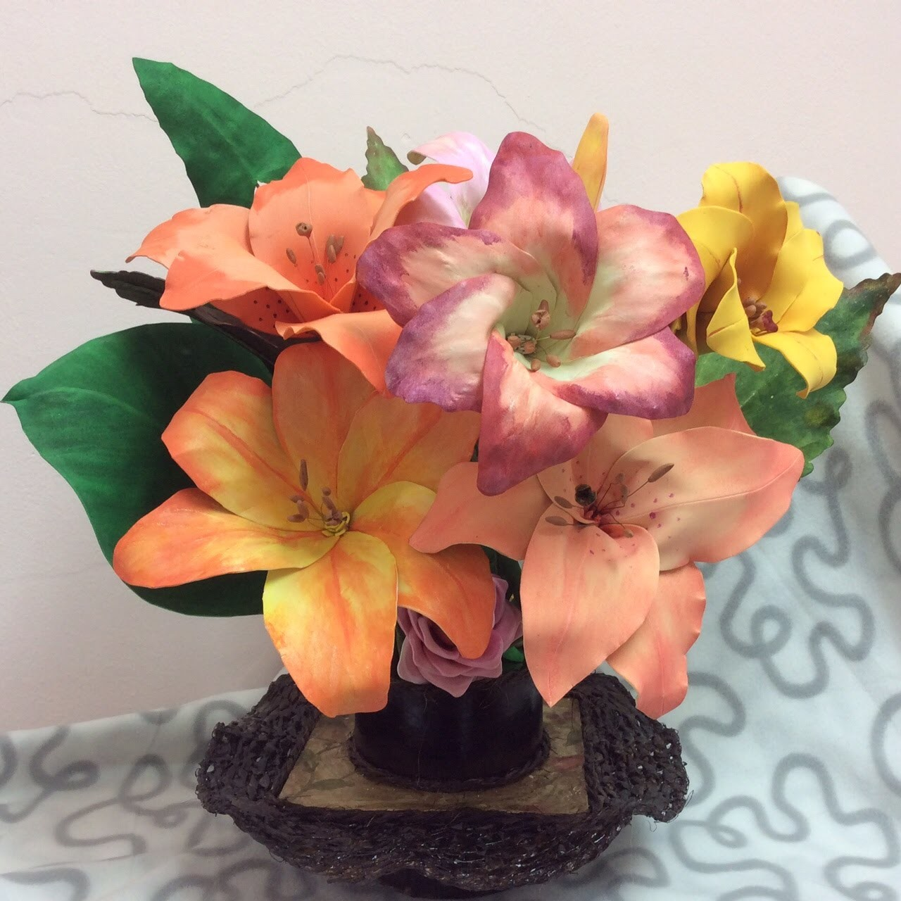 Como hacer Centro de Mesa Para flores-How to make centerpiece for flowers