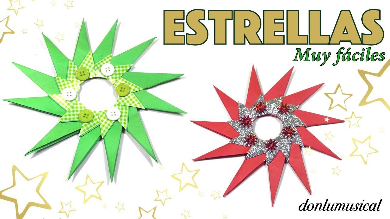 Cómo hacer estrellas de Navidad. Christmas star. Manualidades