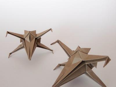Como hacer una nave de star wars de origami (origami X-wing)