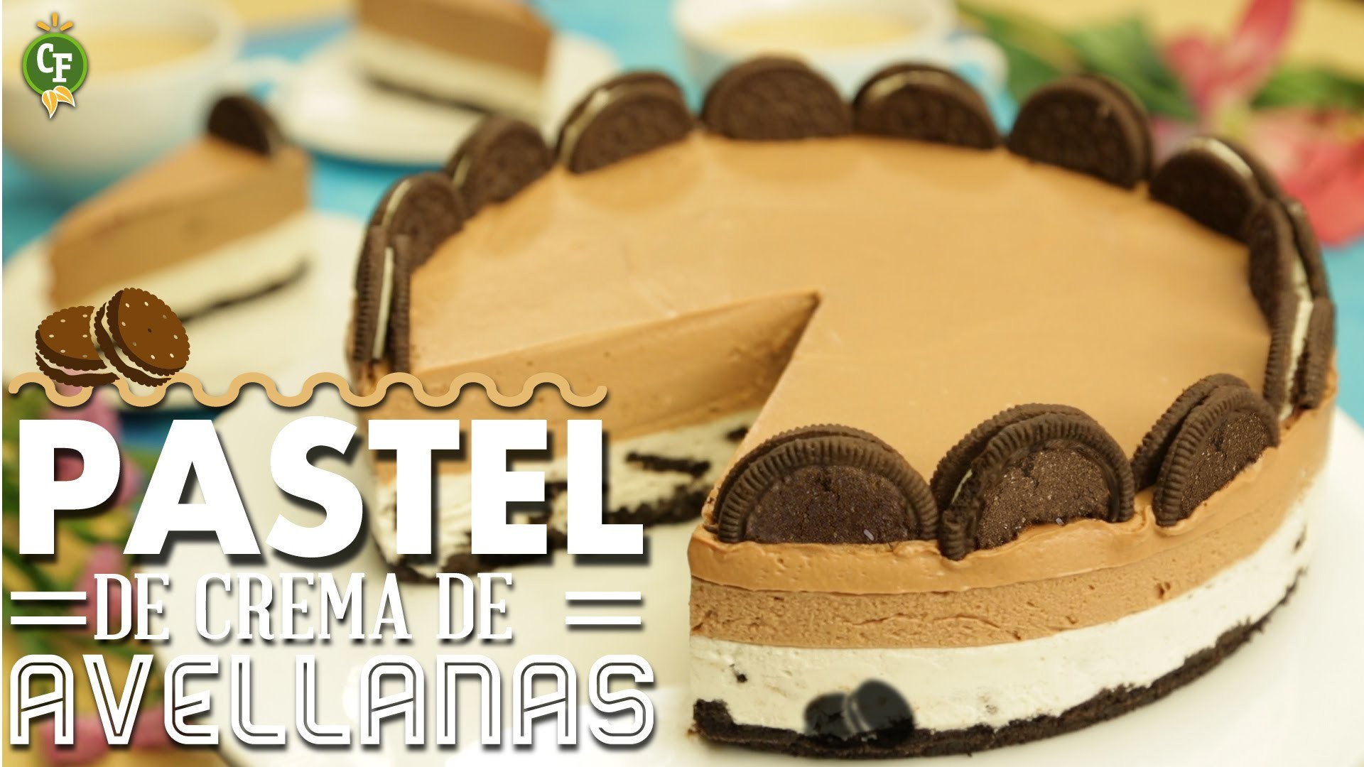 ¿Cómo preparar Pastel de Crema de Avellanas y Galletas de Chocolate? - Cocina Fresca