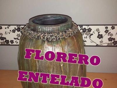 Florero Entelado