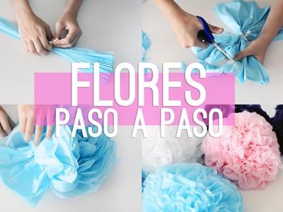 HAZ FLORES DE PAPEL PARA DECORAR! | Ale90cb