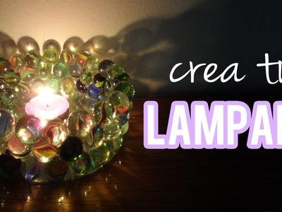 Haz tu propia lámpara de bolitas.canicas, fácil - Tutoriales Belen
