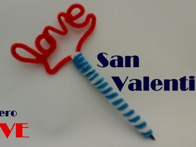 LAPICEROS Y PLUMAS DECORADOS LOVE (REGALO SAN VALENTIN)