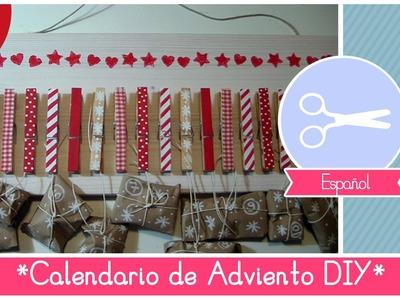 Manualidad de Navidad: como hacer un Calendario de Adviento con pinzas de tender