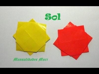 Origami - Papiroflexia. El sol, muy sencillo