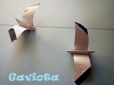 Origami - Papiroflexia. Gaviota de papel, muy fácil