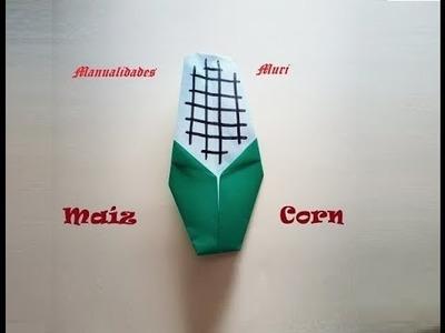 Origami - Papiroflexia. Mazorca de maíz, Acción de Gracias, muy fácil