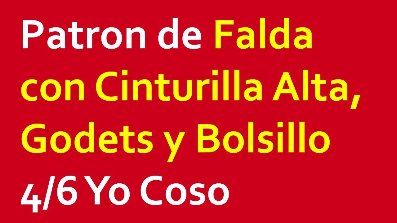 Patron de Falda con Cinturilla Alta, Godets y Bolsillo 4.6