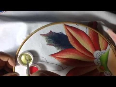 Pintura en tela niña nochebuena # 4 con cony