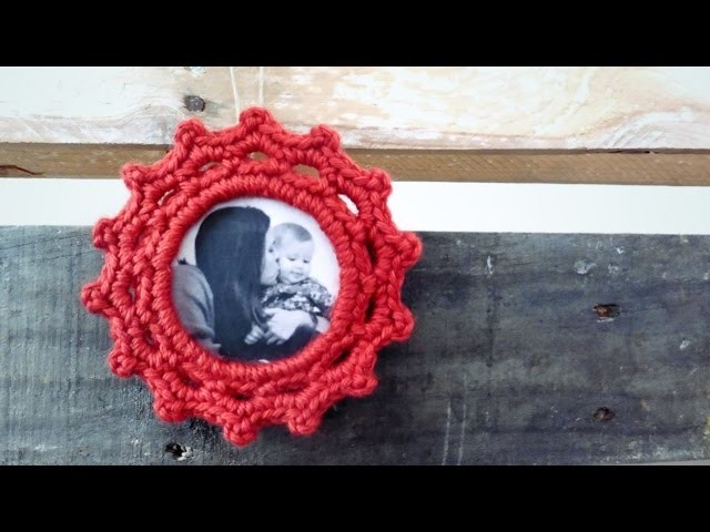 Portarretratos a Crochet (para tu Árbol de Navidad) W.ENGLISH SUBTITLES!!!