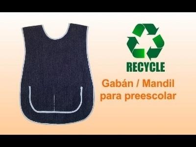 RX:  DIY ¿Cómo hacer.  Gabán. Mandil preescolar infantil? (házlo con material reciclado)