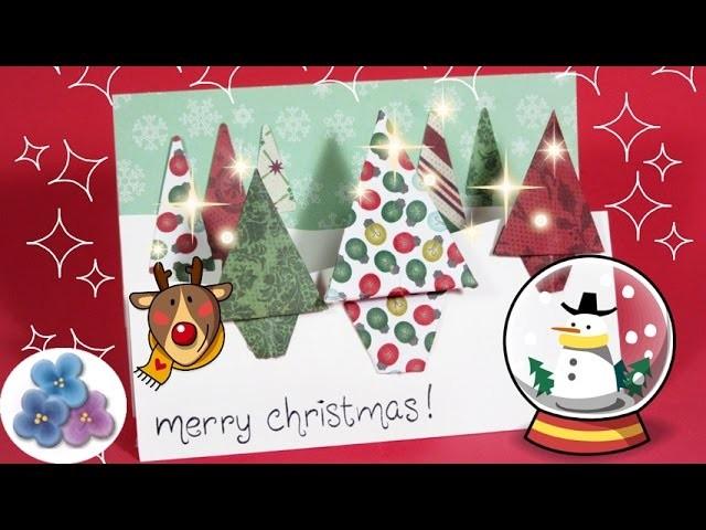 Tarjetas de Navidad Scrapbook en 3D origianels y creativas Tarjetas Navideñas 2015 Pintura Facil
