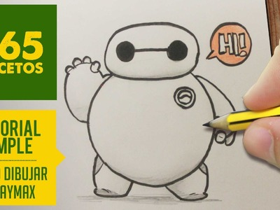 COMO DIBUJAR DE BIG HERO 6 A BAYMAX PASO A PASO - Kawaii facil - How to draw Baymax from Big Hero 6