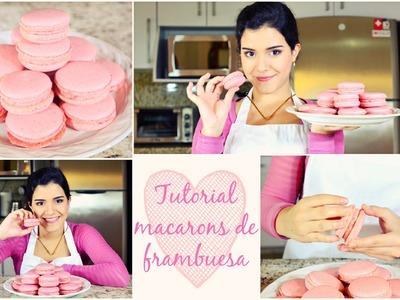 Cómo hacer macarons franceses de frambuesa (Idea de regalo)