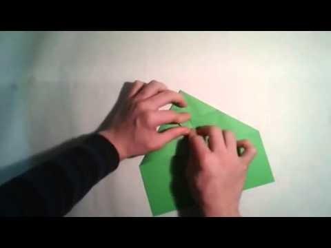 Como hacer un avion de papel planeador  [Origami - Papiroflexia]